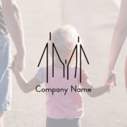 販売ロゴ番号0457 – シンプルな親子のロゴデザイン