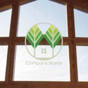 販売ロゴ番号0473 – 木と家の販売ロゴ
