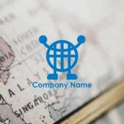 販売ロゴ番号0474 – 地球を表現した販売ロゴ