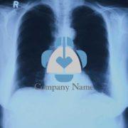 販売ロゴ番号0475 – 肺と十字の医療向け販売ロゴデザイン