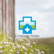 販売ロゴ番号0490 – 爽やかなクリニック・病院をイメージしたロゴのデザイン
