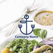 販売ロゴ番号0496 – シーフードレストランの販売ロゴ