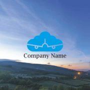販売ロゴ番号0497 – シンプルな飛行機のロゴ