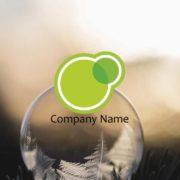 寄り添う2つの円(リング・輪)の販売ロゴマークデザインを作成