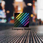デジタル的なイメージの美しいラインの販売ロゴ マークのデザイン