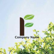 植物をイメージしたアルファベットFのシンボルマーク