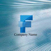 革新をテーマに作成したアルファベットFのロゴマーク