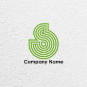 線とアルファベットSのロゴデザイン