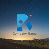 アルファベットBと人と星を組み合わせたロゴマーク