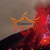 再生・復活する火の鳥・フェニックスのロゴマーク
