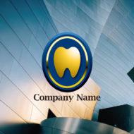 歯科クリニックに最適な 輝く歯のエンブレム