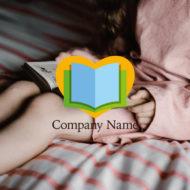 ハートと本のロゴ