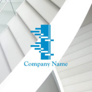 成功へのステップアップを表現したロゴマークのデザイン