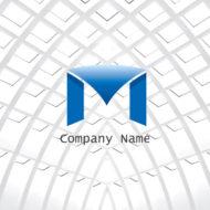 天幕を張った「Mの文字のロゴマーク」