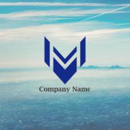主張するMの文字のロゴデザイン